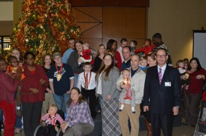 All the children and their families along with Erlanger President and CEO, Kevin M. Spiegel, FACHE